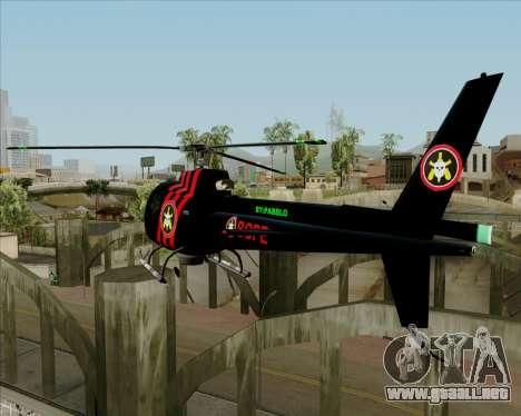 Sparrow BOPE para GTA San Andreas vista posterior izquierda