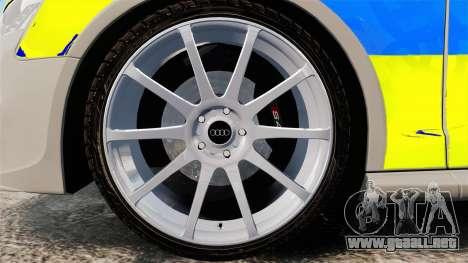 Audi S4 ANPR Interceptor [ELS] para GTA 4 vista hacia atrás