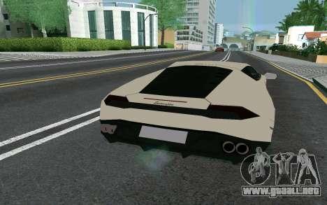 Lamborghini Huracane LP610-4 para GTA San Andreas vista posterior izquierda