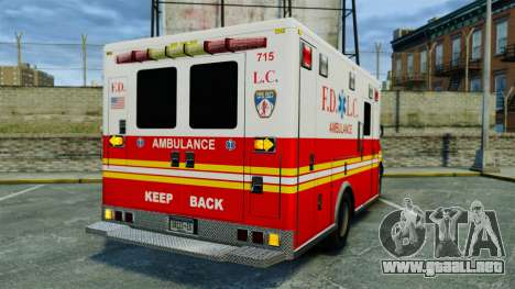 Brute FDLC Ambulance [ELS] para GTA 4 Vista posterior izquierda
