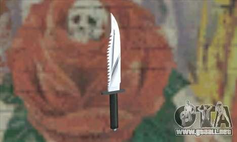 Cuchillo de Rambo para GTA San Andreas segunda pantalla
