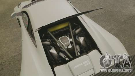 McLaren MP4-12C GT3 Blank para GTA 4 vista interior