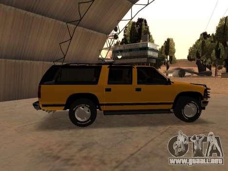 GMC Yukon para GTA San Andreas vista posterior izquierda