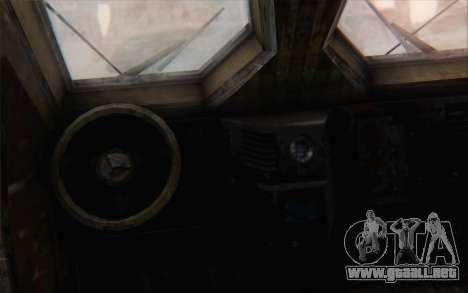 Oshkosh M-ATV para GTA San Andreas vista posterior izquierda