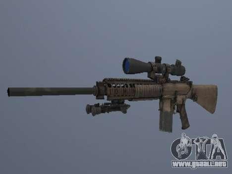 M110 para GTA San Andreas tercera pantalla
