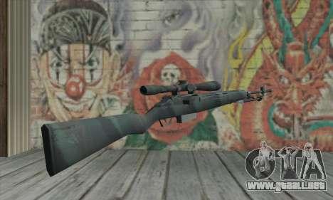 M21 de COD 4 Modern Warfare para GTA San Andreas segunda pantalla