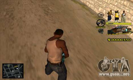 C-HUD Vagos Gang para GTA San Andreas segunda pantalla