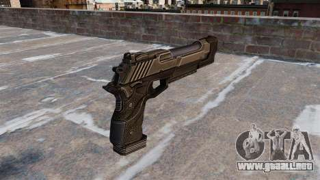 Pistola de águila del desierto Crysis 2 para GTA 4 segundos de pantalla