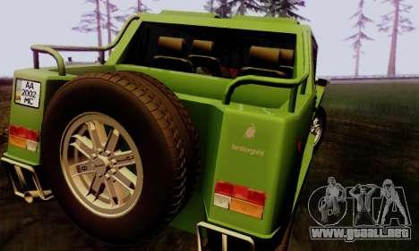 Lamborghini ML002 para GTA San Andreas left