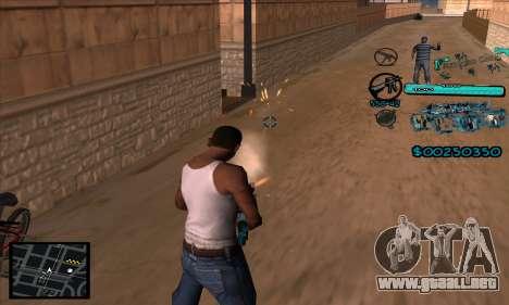 C-HUD Aztecas Gang para GTA San Andreas tercera pantalla
