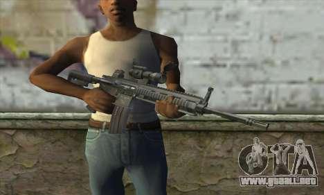 HK416 with ACOG para GTA San Andreas tercera pantalla