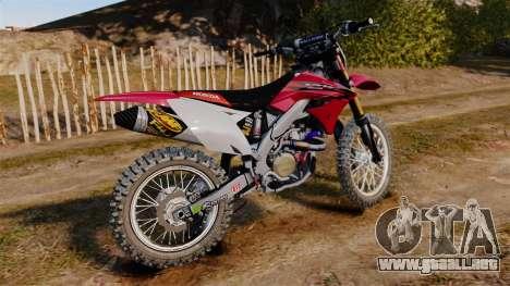 Kawasaki KX250F (Honda) para GTA 4 left
