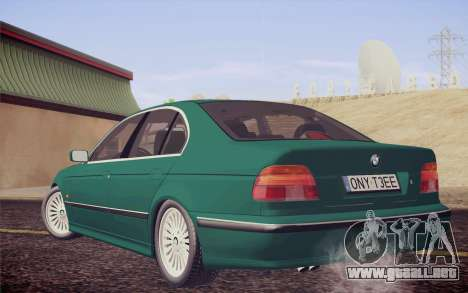 BMW M5 E39 528i Greenoxford para GTA San Andreas left