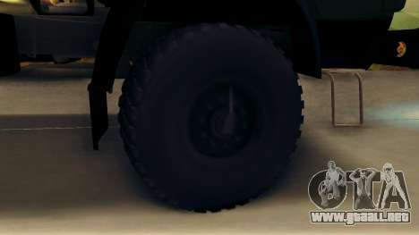 Kamaz 4310 Brevnova para GTA San Andreas vista hacia atrás