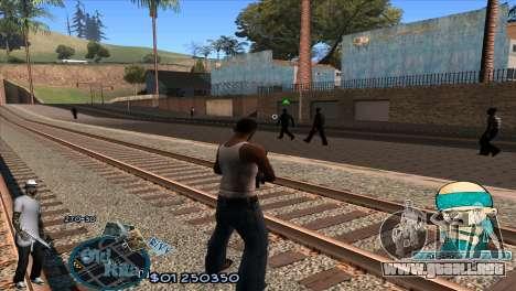 C-HUD Rifa by HARDy para GTA San Andreas segunda pantalla