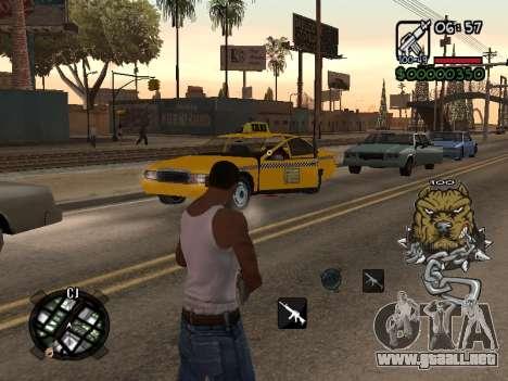 C-HUD by Margarin para GTA San Andreas segunda pantalla