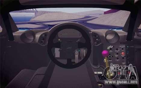 McLaren F1 GTR Longtail 22R para la visión correcta GTA San Andreas
