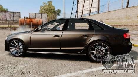 Audi S4 Unmarked Police [ELS] para GTA 4 left
