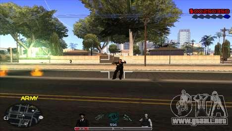 C-Hud Army by Kin para GTA San Andreas tercera pantalla