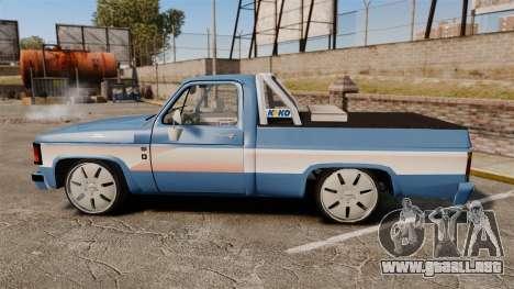 Chevrolet D-20 Custom para GTA 4 left