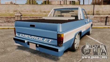 Chevrolet D-20 Custom para GTA 4 Vista posterior izquierda