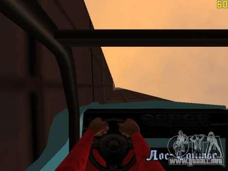 Montar a caballo en paredes y techos v2.0. para GTA San Andreas octavo de pantalla