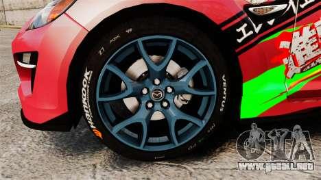 Mazda RX-8 R3 2011 para GTA 4 vista hacia atrás