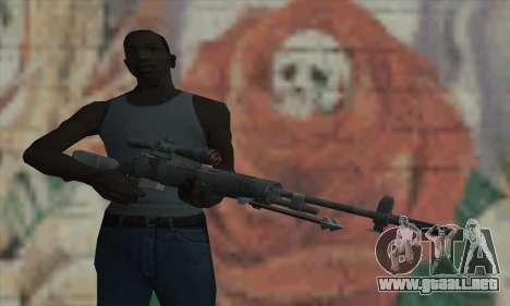 M21 de COD 4 Modern Warfare para GTA San Andreas tercera pantalla