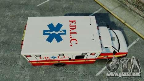 Brute FDLC Ambulance [ELS] para GTA 4 visión correcta