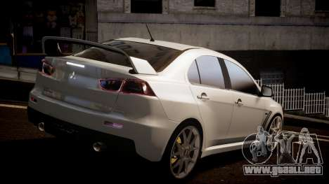 Mitsubishi Lancer Evolution X 2009 v1.3 para GTA 4 left