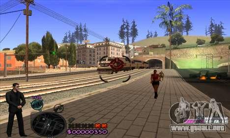 C-HUD Woozie para GTA San Andreas quinta pantalla