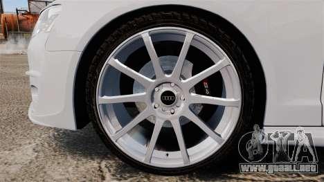 Audi S4 Unmarked Police [ELS] para GTA 4 vista hacia atrás
