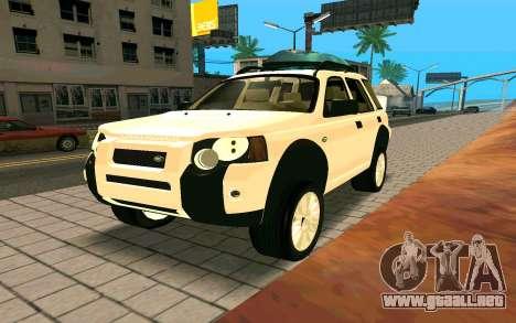Land Rover Freelander para la visión correcta GTA San Andreas