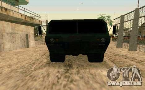 HEMTT Heavy Expanded Mobility Tactical Truck M97 para la visión correcta GTA San Andreas