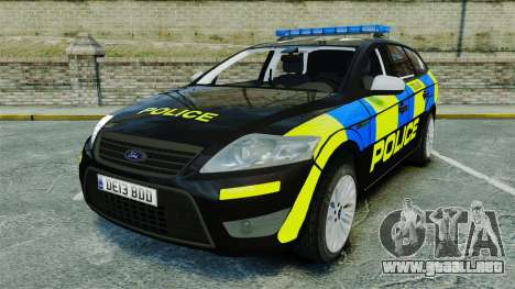 Ford Mondeo Estate Police Dog Unit [ELS] para GTA 4