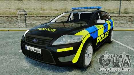 Ford Mondeo Estate Police Dog Unit [ELS] para GTA 4
