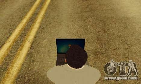Notebook mod v1.0 para GTA San Andreas quinta pantalla