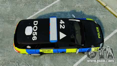 Ford Mondeo Estate Police Dog Unit [ELS] para GTA 4 visión correcta
