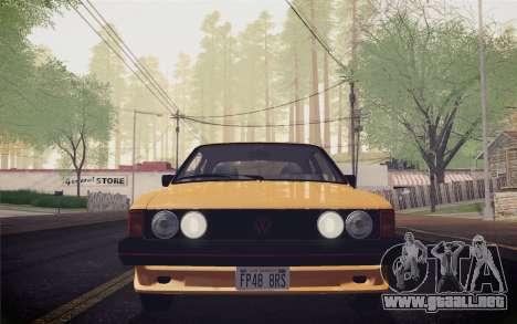 Volkswagen Scirocco S (Typ 53) 1981 IVF para visión interna GTA San Andreas