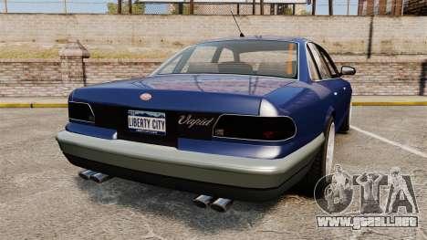 Civil Cruiser para GTA 4 Vista posterior izquierda