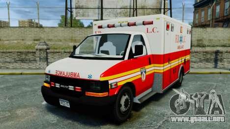 Brute FDLC Ambulance [ELS] para GTA 4