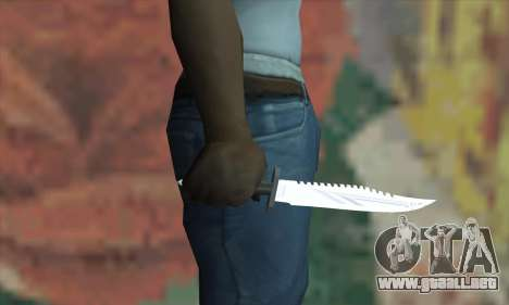 Cuchillo de Rambo para GTA San Andreas tercera pantalla