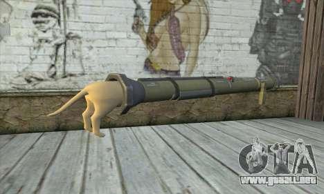 El lanzador de cohetes de Pstal 3 para GTA San Andreas segunda pantalla