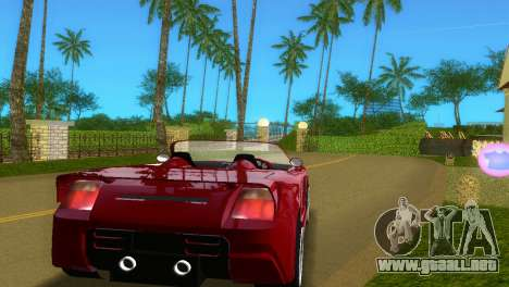 Toyota MR-S Veilside Spider para GTA Vice City visión correcta