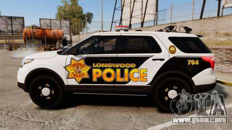 Ford Explorer 2013 LCPD [ELS] v1.5X para GTA 4 left