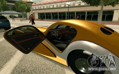 GTA V Z-type para GTA San Andreas vista posterior izquierda