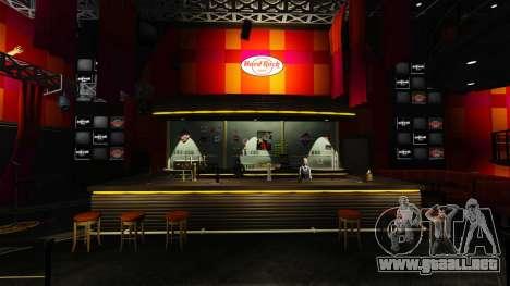 Una nueva cafetería-Hard Rock- para GTA 4 segundos de pantalla