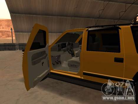 GMC Yukon para visión interna GTA San Andreas