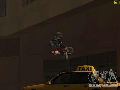 Montar a caballo en paredes y techos v2.0. para GTA San Andreas sexta pantalla