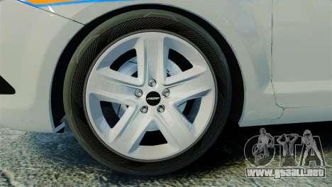 Ford Focus Metropolitan Police [ELS] para GTA 4 vista hacia atrás